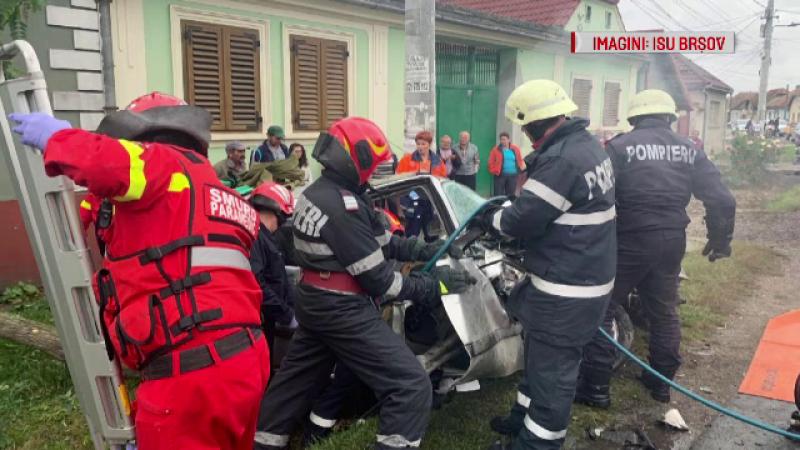 Patru răniți, într-un accident grav din Brașov. Ce au scos la iveală primele cercetări