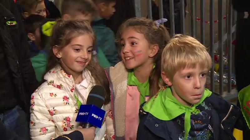 Cum au trăit copiii de pe Arena Națională meciul cu Norvegia