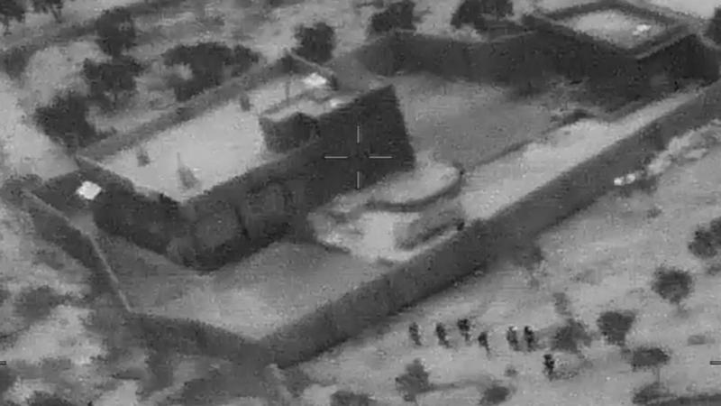 Primele imagini cu raidul american în Siria