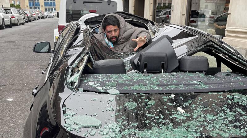 Barbat prabusit pe BMW 2