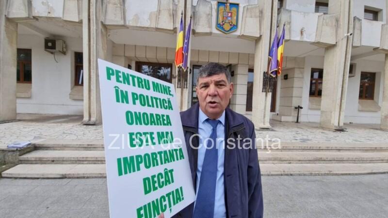 """Un primar din Constanța a intrat în greva foamei chiar de ziua lui: """"Vreau să țin minte ziua asta"""". Care sunt motivele"""