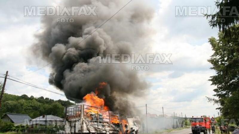 Incendiu in Buzau