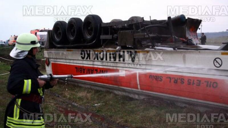 Pericol de explozie pe Drumul European 85, in dreptul localitatii Oreavu