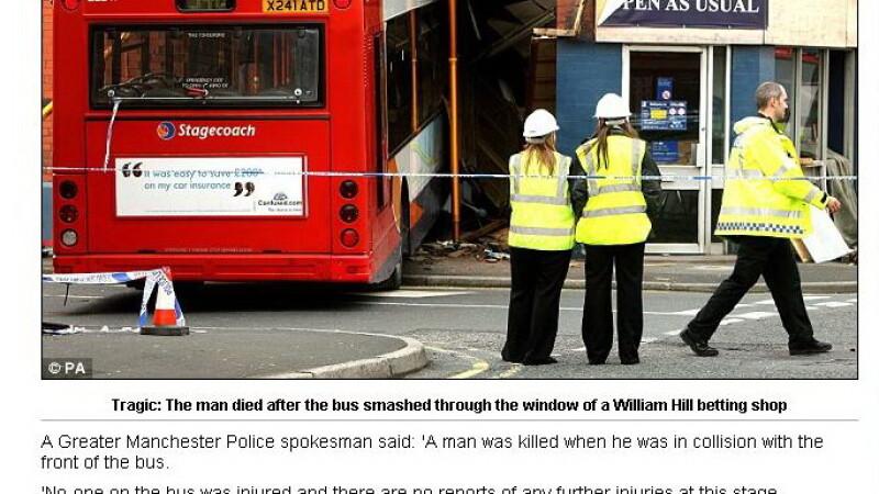 A fost calcat de autobuz.... intr-o casa de pariuri!