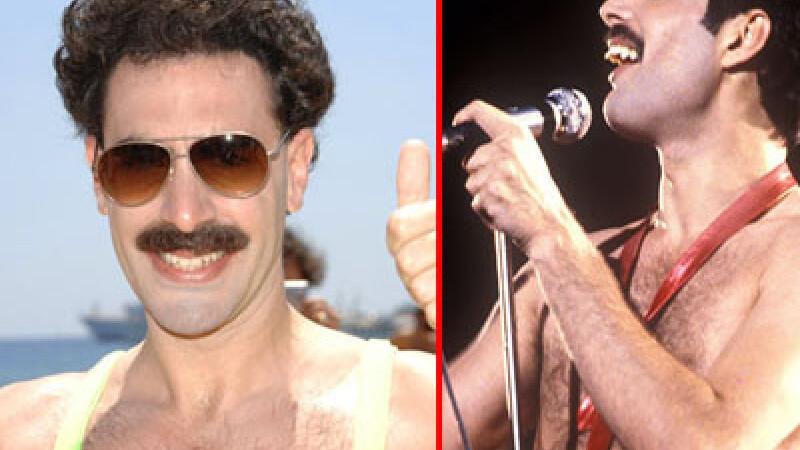 Borat/ Freddy Mercury