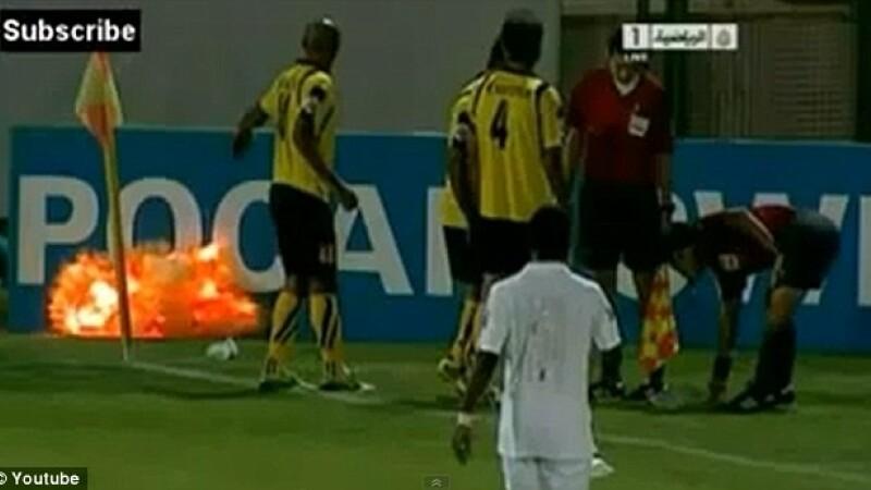 grenada explodeaza te teren, meci fotbal