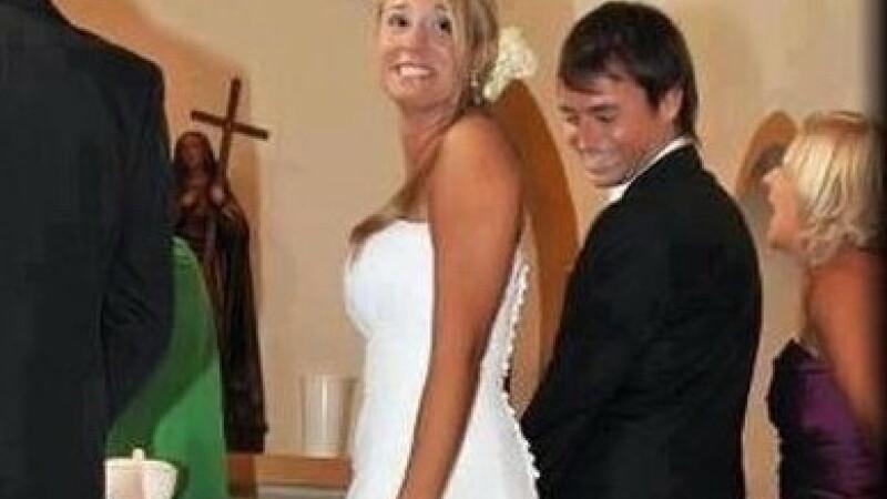 Nunta la care au ras in hohote toti invitatii. Ce s-a intamplat cu rochia miresei in timpul cununiei