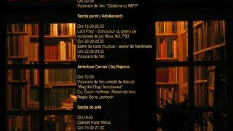 "Nocturna Bibliotecilor la Biblioteca Judeteana ""Octavian Goga"" Cluj"
