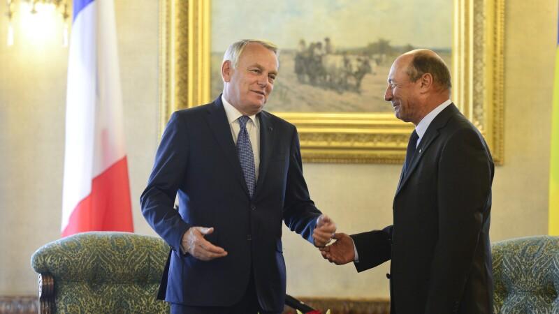Premierul Frantei Jean-Marc Ayrault, Traian Basescu