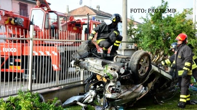 accident auto Italia Pavia doi tineri din Moldova au murit
