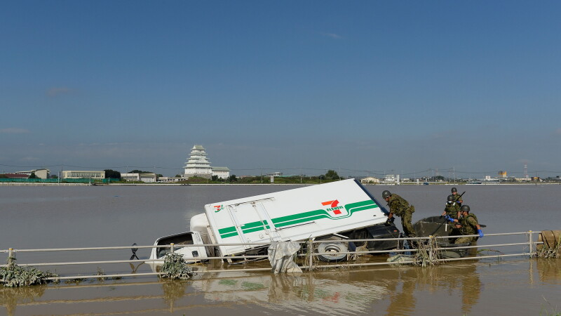 Inundatii in Japonia - GETTY
