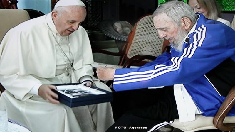 Papa Francisc, Fidel Castro - AGERPRES