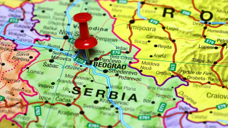 Serbia harta