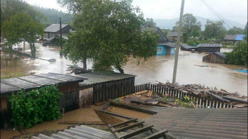 taifun in regiunea Primorie din Rusia