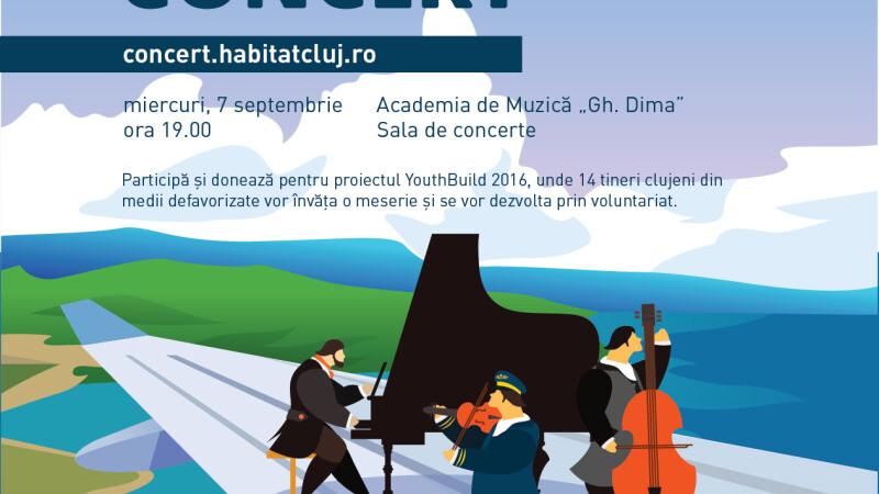 Trei muzicieni de exceptie construiesc viitorul tinerilor clujeni printr-un concert caritabil