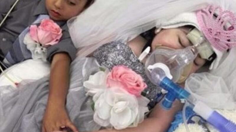 Mireasa de cinci ani, care suferea de fibroza chistica. Parintii i-au organizat nunta la care nu avea sa ajunga niciodata