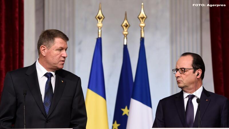 Francois Hollande, Klaus Iohannis - AGERPRES