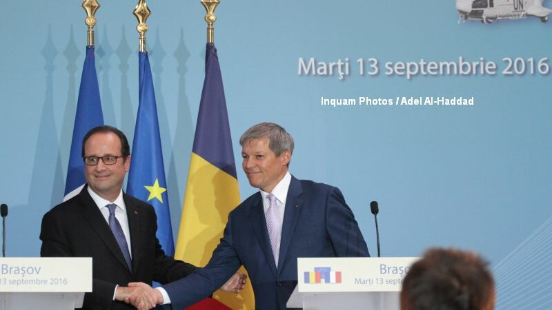 Dacian Ciolos si Francois Hollande
