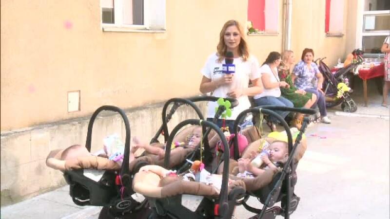 Micutii nascuti prematur, ajunsi la varsta gradinitei, au revenit la Cantacuzino pentru a ii cunoaste pe medicii salvatori