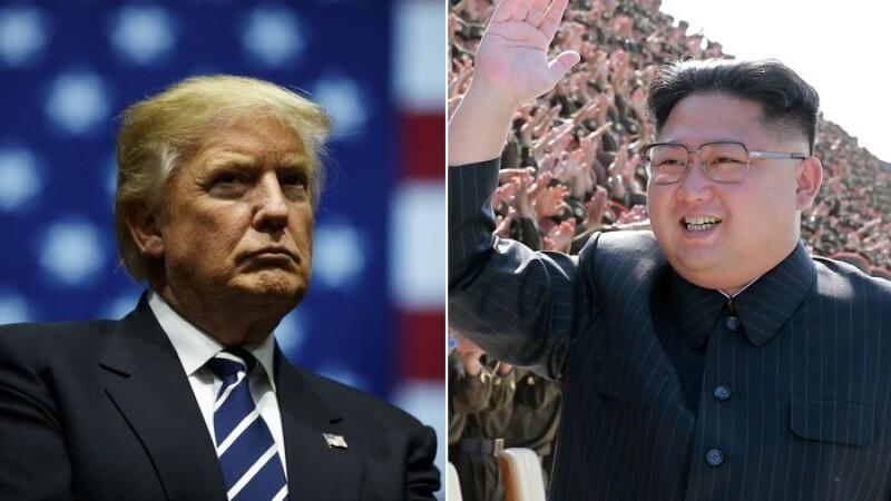 Reacția lui Donald Trump întrebat dacă ia în considerare să atace Coreea de Nord