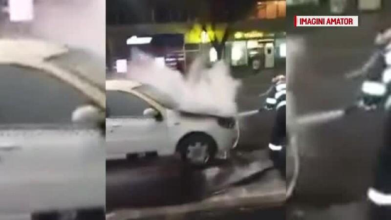incendiu taxi