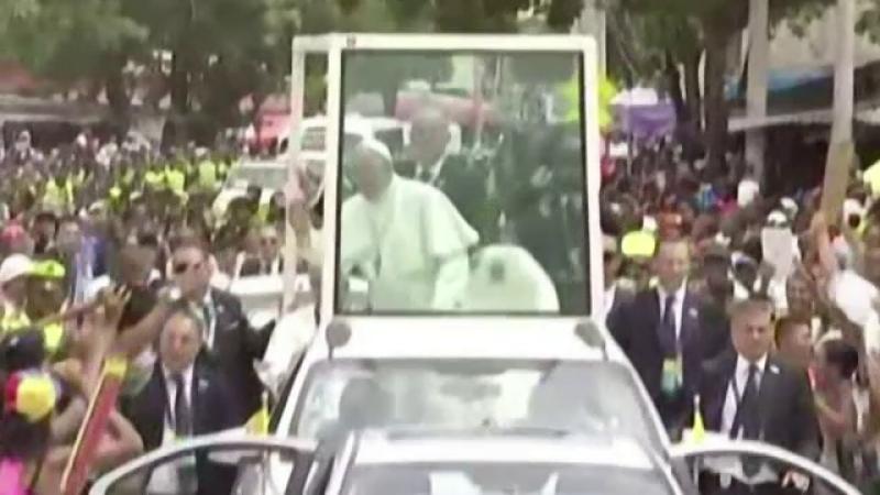Papa Francisc, Columbia, incidente