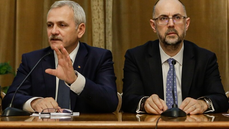 Liviu Dragnea si Kelemen Humor semneaza protocolul de colaborare intre PSD, ALDE si UDMR