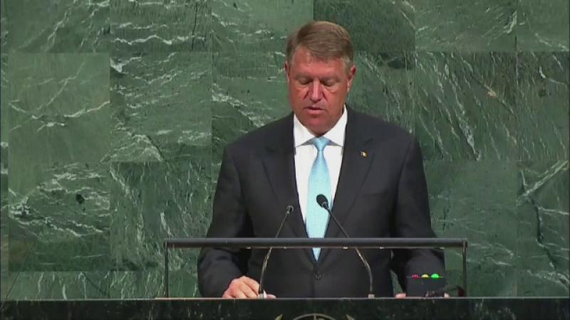 Discursul lui Klaus Iohannis în Adunarea Generală a ONU. Ce anunț a făcut președintele