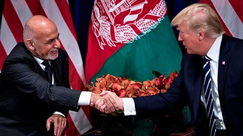 Donald Trump cu Ashraf Ghani