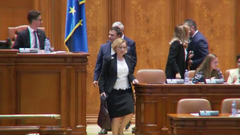 Deputații au respins moțiunea simplă PNL pentru demiterea ministrului Carmen Dan