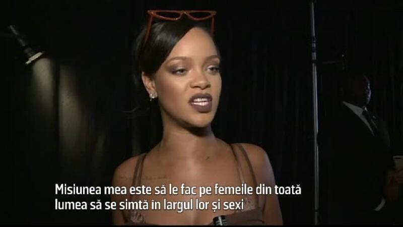"""Săptămâna modei. Rihanna: """"Treaba mea e să le fac pe femei să se distreze în lenjeria lor intimă"""""""