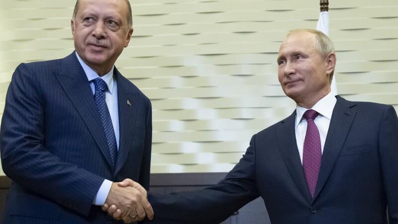 Putin și Erdogan au convenit formarea unei zone demilitarizate în regiunea Idlib