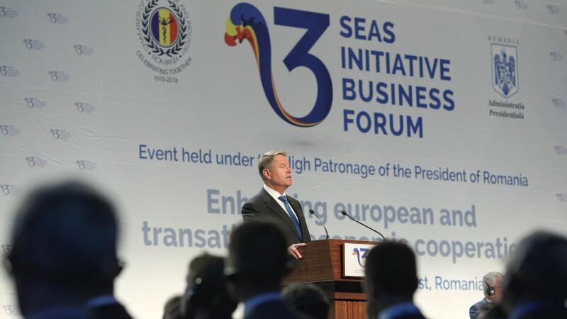 Inițiativa celor Trei Mări. Iohannis: România are potențialul de a deveni o platformă energetică. Mesajul lui Junker