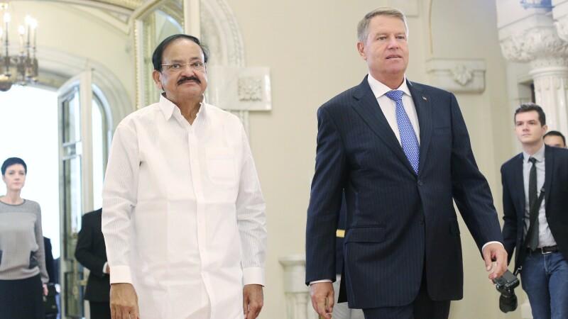 Vicepreşedintele Indiei, Venkaiah M. Naidu, a fost primit de preşedintele Iohannis