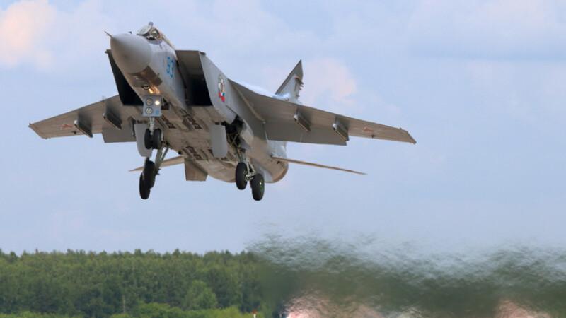 Un avion de luptă rusesc de ultimă generaţie s-a prăbuşit, după ce a luat foc. VIDEO