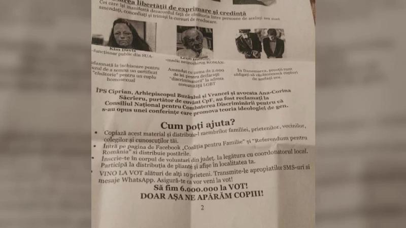 """Propagandă pentru referendum la orele de religie. Mesajul unui preot din Sibiu: """"Nu cedați!"""""""