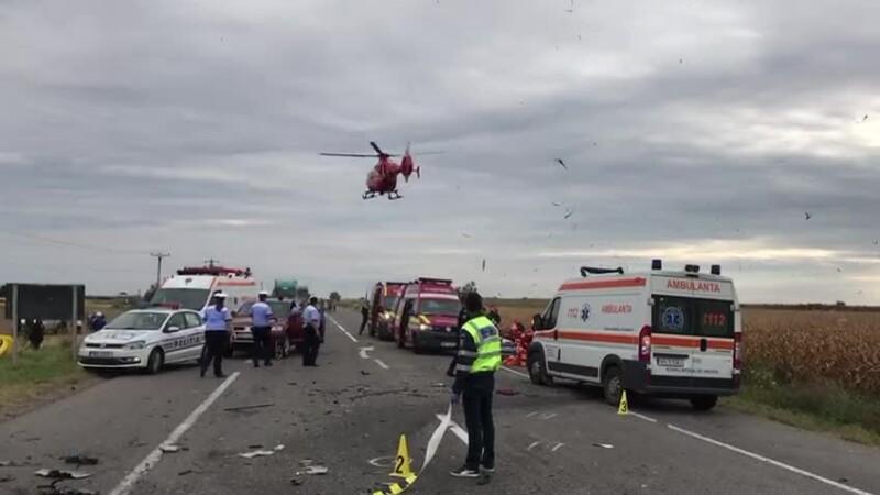 Accident cu 4 morți și 2 răniți în Vrancea. Planul roșu a fost activat