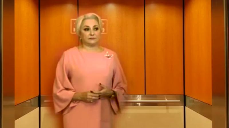 Dăncilă, ironizată de internauți după ce Dragnea nu a lăsat-o să vorbească. VIDEO