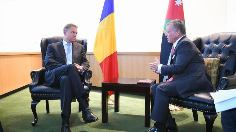Preşedintele Klaus Iohannis s-a întâlnit cu regele Abdullah al II-lea al Iordaniei. Discuțiile purtate