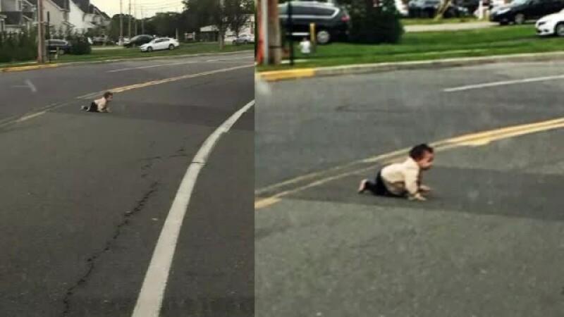 Un bărbat din New Jersey a salvat, cu mașina, un bebeluș din mijlocul șoselei