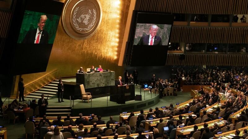 Trump, protejat de o poliţistă din Mureş în timpul discursului de la ONU