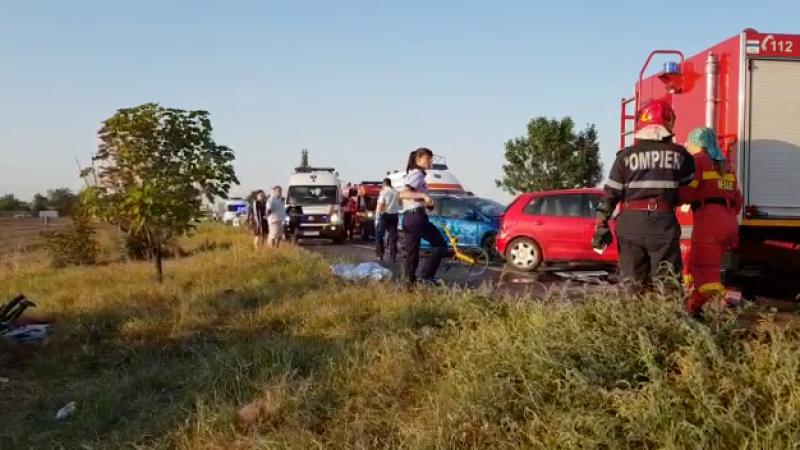 3 morți și 3 răniți după un impact frontal în Buzău