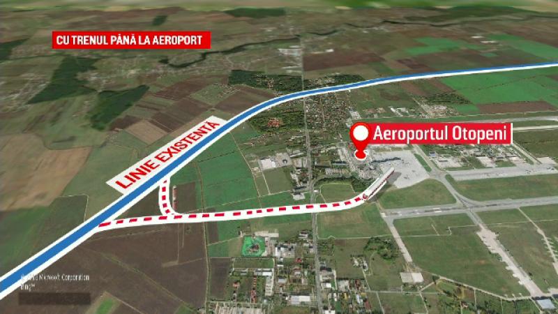 ANIMAŢIE GRAFICĂ: Cum va arăta pasarela de cale ferată de la Otopeni