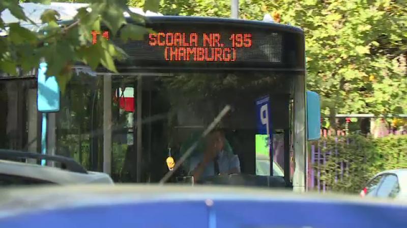 Teste cu primul autobuz şcolar din Bucureşti