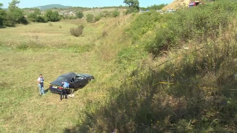 Mașină căzută în răpă în Bistrița-Năsăud