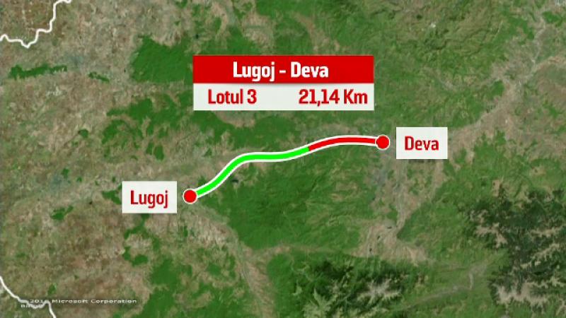 harta lotul 3 Lugoj-Deva