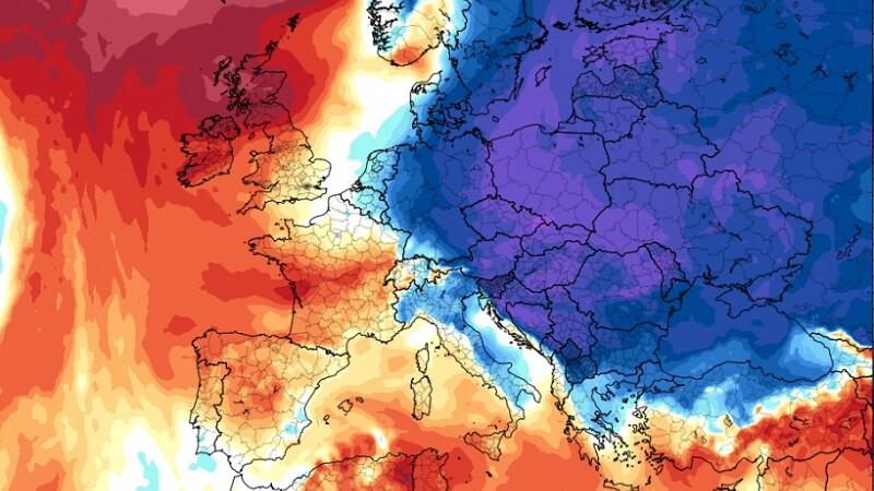 România, lovită de un val de aer polar săptămâna viitoare