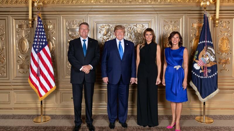 Klaus Iohannis, Donald Trump, Melania Trump, Carmen Iohannis