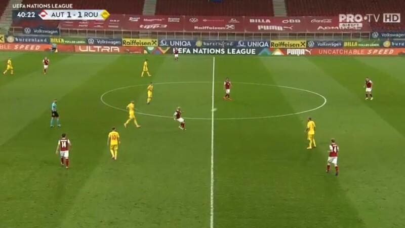 Austria - România, scor 2-3, în Liga Națiunilor
