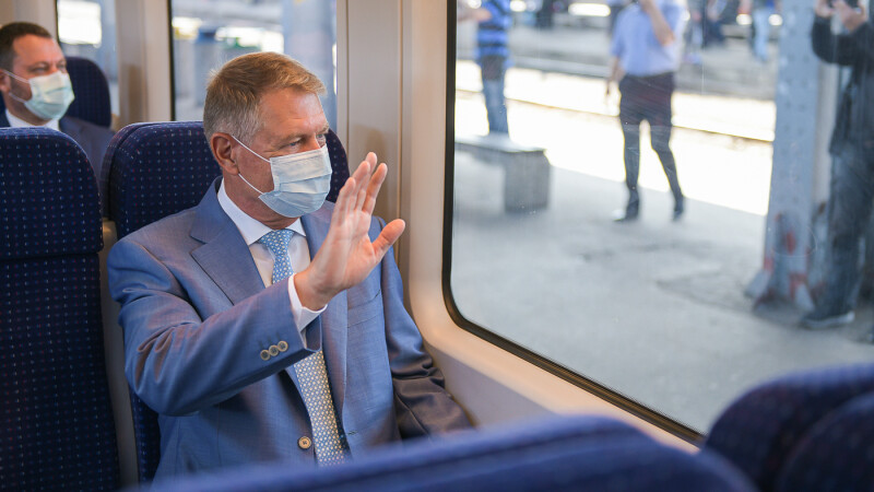 Klaus Iohannis, tren